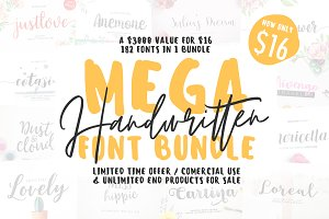 MEGA 182 IN 1 FONT BUNDLE