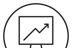 Graph stroke icon, logo illustration