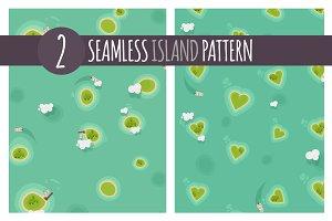 2 x Island Pattern