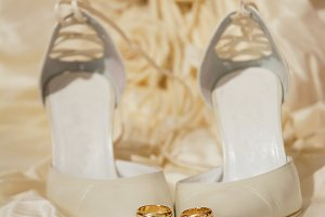 wedding rings and women's shoes with