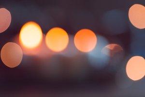 Blurred lights at night