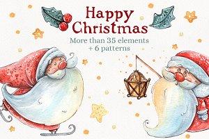 Happy Christmas set +6 patterns