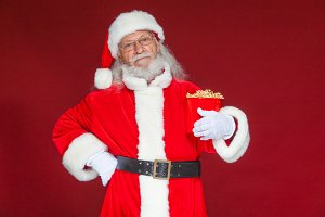 Christmas. Smiling, kind Santa Claus