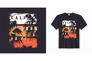 California stylish t-shirt design