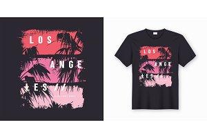 Los Angeles stylish t-shirt design