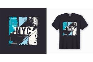 New York City stylish t-shirt design