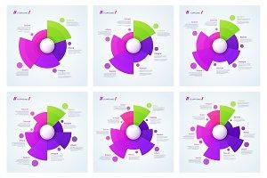 Vector circle chart designs
