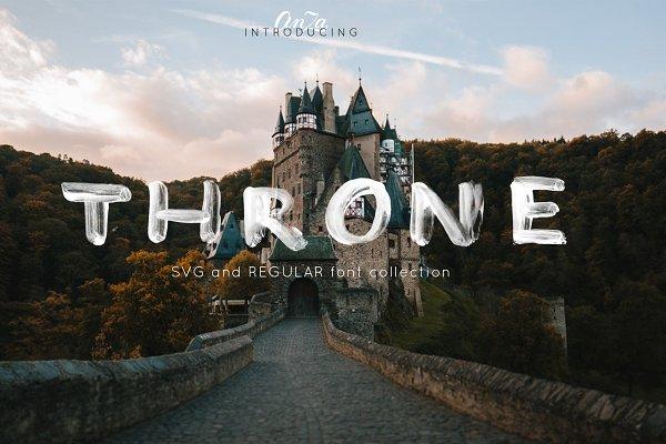 THRONE - SVG and regular OTF font