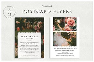 Floral Postcard Flyers