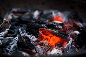 glowing coal