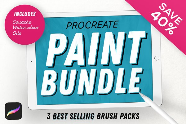 Photoshop Brushes - Paint Bundle for Procreate