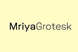 Mriya Grotesk - Sans-Serif Typeface