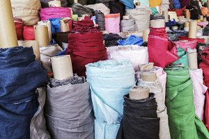 Fabric in roll background