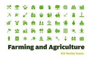 115 Farming and Agriculture Icons