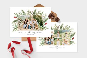 Christmas Photo Card Template -CD080