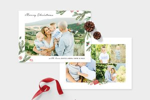 Christmas Photo Card Template -CD081