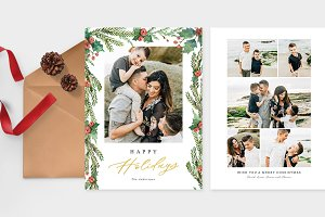 Christmas Photo Card Template -CD082