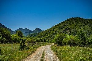 Road in mountain landscape