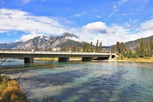 The bridge across mountain river Ban