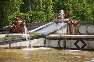 The ancient park in  Segovia