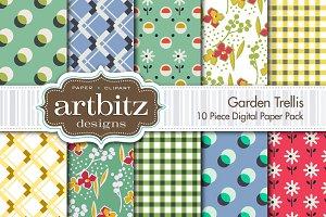 Garden Trellis Digital Paper