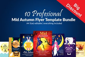 10 Mid Autumn Flyer Bundle Vol:02