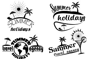 Vintage summer typography design
