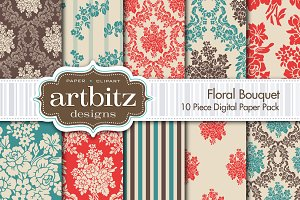 Floral Bouquet Digital Paper