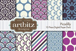 Picadilly Digital Paper 10 Piece