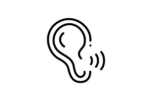 Ear recognition icon