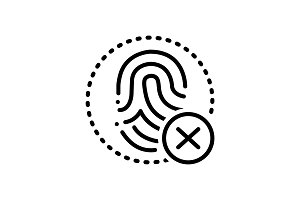 Fingerprint cancelation icon