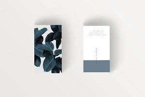Tropical Leaves Business card