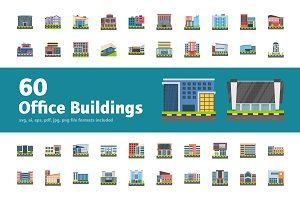 60 Office Building Icons