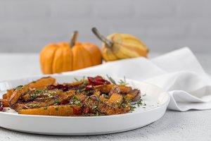 Fried pumpkin for halloween