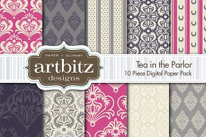 Tea in the Parlor Digital Paper
