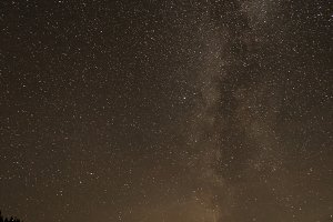View on the milky way with mountains