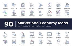 90 Market and Economy Icons