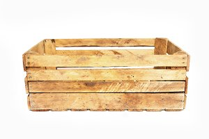 Wooden crate isolated