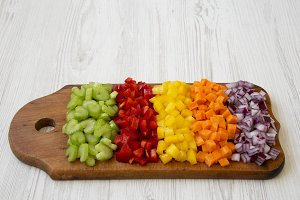 Chopped fresh vegetables