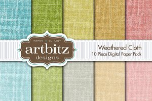 Weathered Cloth Digital Paper