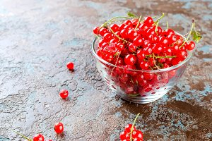 Ripe fresh red currant berries