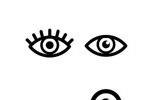 Set of different eye icons