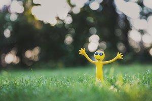 Funny little yellow guy