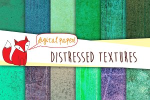 Distressed Texture Paper- Green Pack