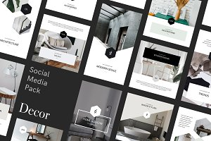 Decor Social Media Pack for Canva