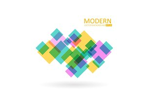 Transparent vector squares. Modern