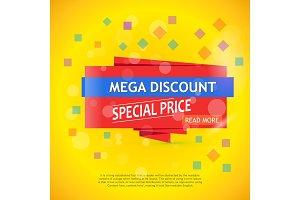Vector mega discount background
