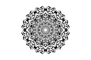 Floral round decorative symbol
