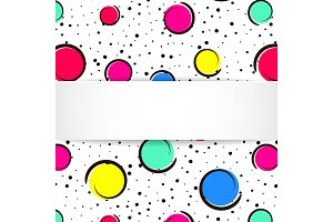 Pop art colorful confetti background