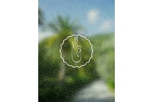 Tropical yoga realistic banner with